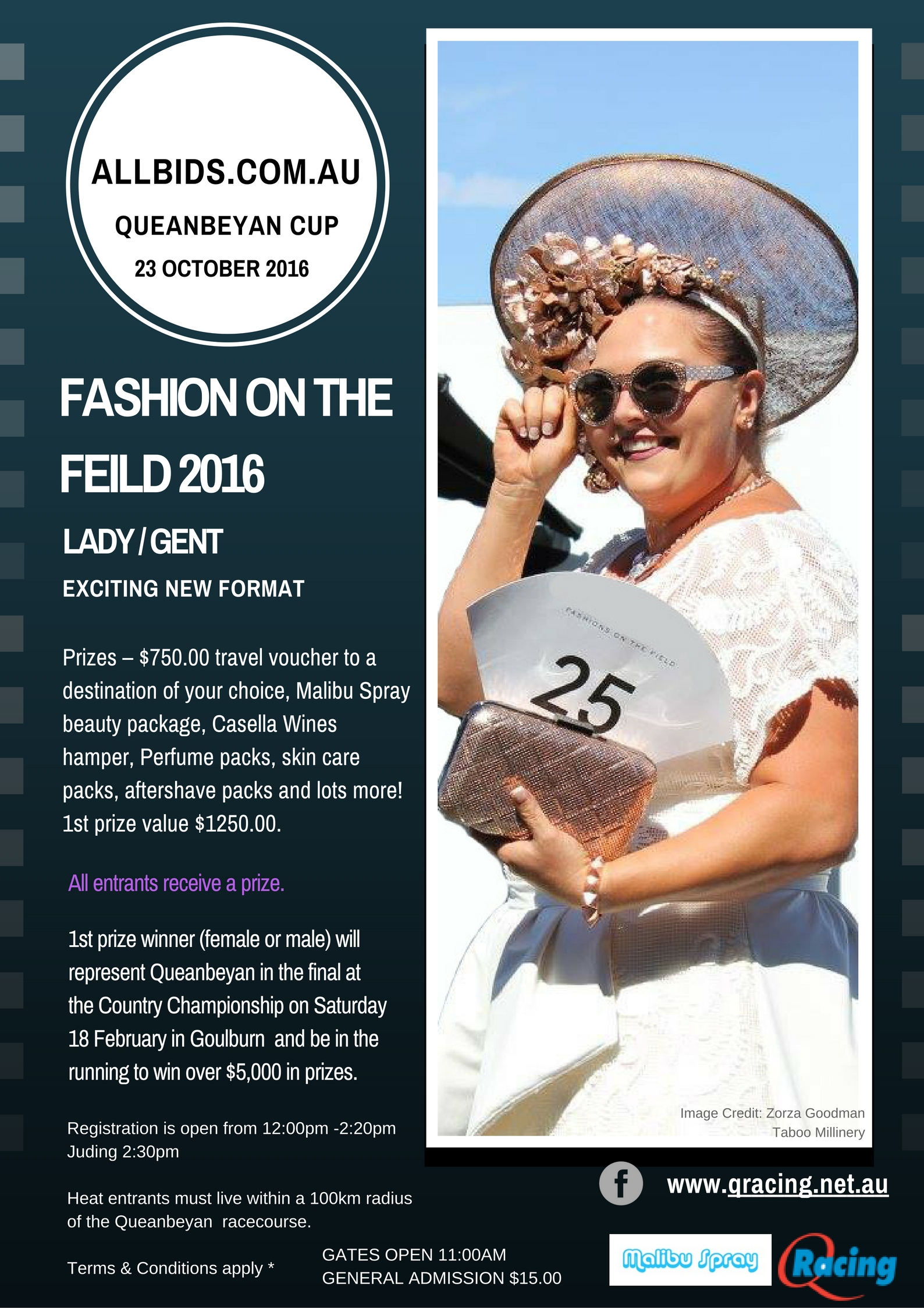 Fashions on the field  Flyer 2016